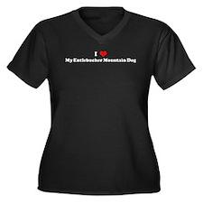 I Love Entlebucher Mountain D Women's Plus Size V-