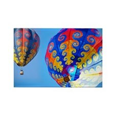 Tye Dye Hot Air Balloon Collage Rectangle Magnet