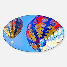 Tye Dye Hot Air Balloon Collage Decal