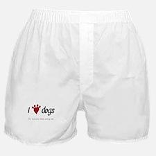 I Heart Dogs Boxer Shorts