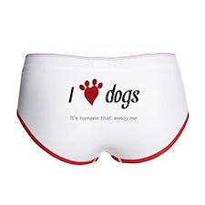 I Heart Dogs Women's Boy Brief