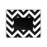 Black white stripes Picture Frames