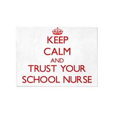 Keep Calm and trust your School Nurse 5'x7'Area Ru
