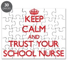 Keep Calm and trust your School Nurse Puzzle