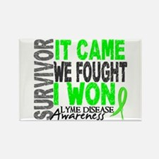Lyme Disease Survivor 2 Rectangle Magnet