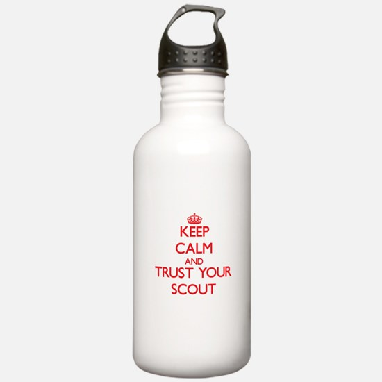 Keep Calm and trust your Scout Water Bottle