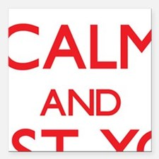 Keep Calm and trust your Secretary Square Car Magn