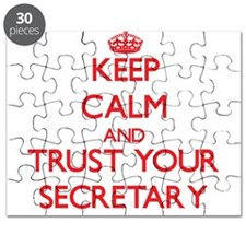 Keep Calm and trust your Secretary Puzzle