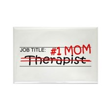 Job Mom Therapist Rectangle Magnet
