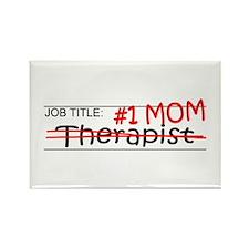 Job Mom Therapist Rectangle Magnet (100 pack)