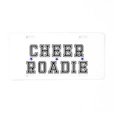 Cheer Roadie Dad Aluminum License Plate