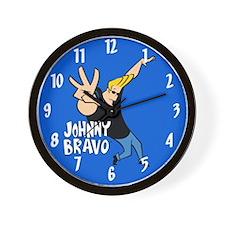 Johnny Bravo Blue Wall Clock