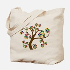 Puzzled Tree of Life Tote Bag