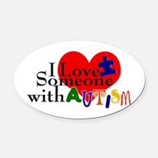 Target Autism Oval Car Magnet