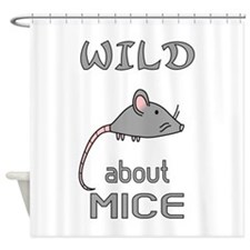 Wild About Mice Shower Curtain