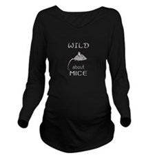 Wild About Mice Long Sleeve Maternity T-Shirt