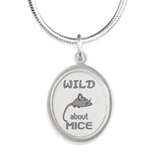 Wild About Mice Silver Oval Necklace