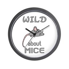 Wild About Mice Wall Clock