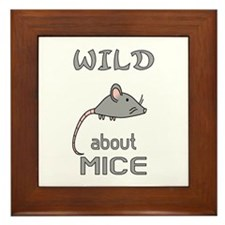 Wild About Mice Framed Tile