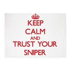 Keep Calm and trust your Sniper 5'x7'Area Rug