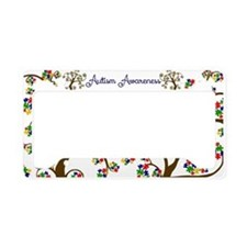 Autism Awareness Tree of Life License Plate Holder