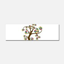 Puzzled Tree of Life Car Magnet 10 x 3