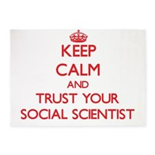 Keep Calm and trust your Social Scientist 5'x7'Are