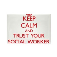 Keep Calm and trust your Social Worker Magnets