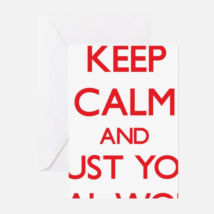 Keep Calm and trust your Social Worker Greeting Ca