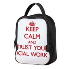 Keep Calm and trust your Social Worker Neoprene Lu