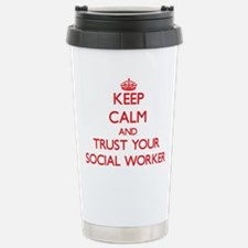 Keep Calm and trust your Social Worker Travel Mug
