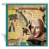 Shakespeare quotes Shower Curtains