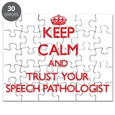 Keep Calm and trust your Speech Pathologist Puzzle