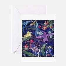 Hummingbird Mosaic Greeting Cards