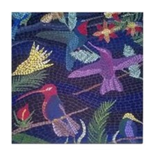 Hummingbird Mosaic Tile Coaster