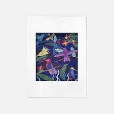 Hummingbird Mosaic 5'x7'Area Rug