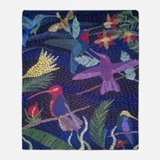 Hummingbird Mosaic Throw Blanket
