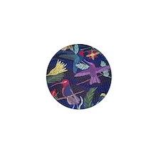 Hummingbird Mosaic Mini Button