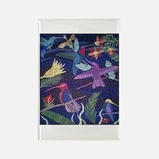 Hummingbird Mosaic Magnets