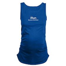 iRun because iLikeToEat Maternity Tank Top