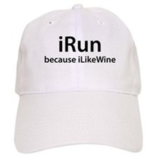 iRun because iLikeWine Baseball Cap