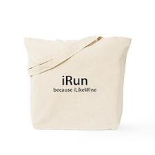 iRun because iLikeWine Tote Bag