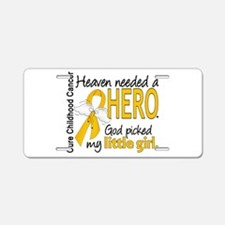 Childhood Cancer HeavenNeed Aluminum License Plate