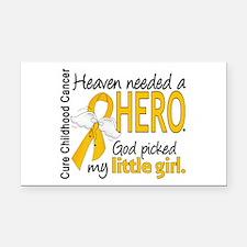 Childhood Cancer HeavenNeeded Rectangle Car Magnet