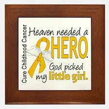 Childhood Cancer HeavenNeededHero1 Framed Tile