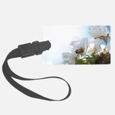 Honey Bee on Cherry Blossoms Luggage Tag