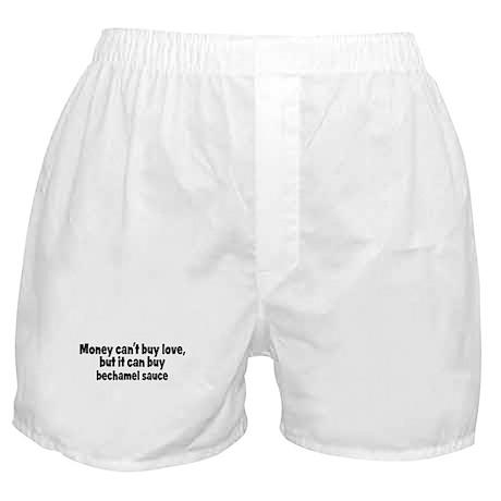 bechamel sauce (money) Boxer Shorts