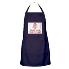 Keep Calm and trust your Stage Manager Apron (dark