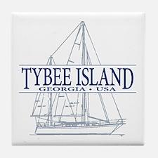 Tybee Island - Tile Coaster