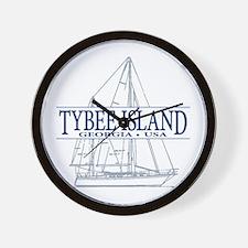 Tybee Island - Wall Clock